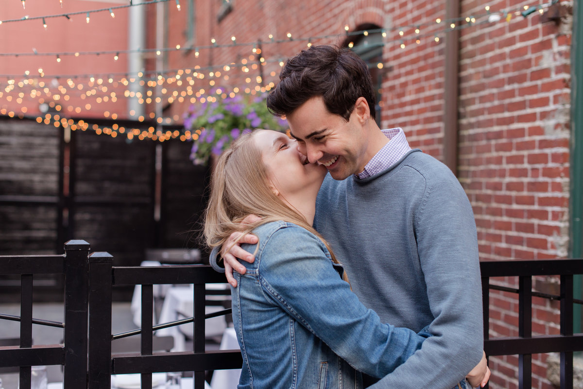 old port outdoor engagement session
