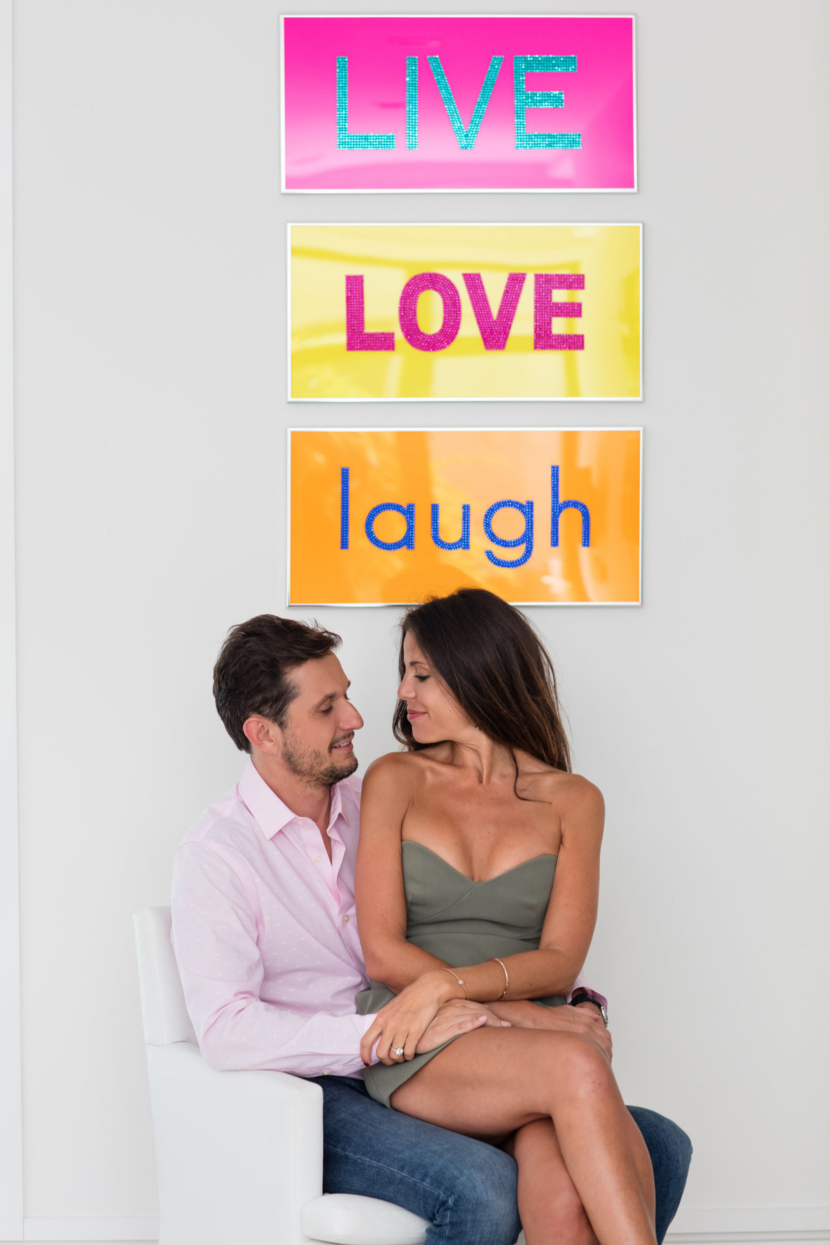 Live Love Laugh Engagement Photoshoot by DeNeffe Studios
