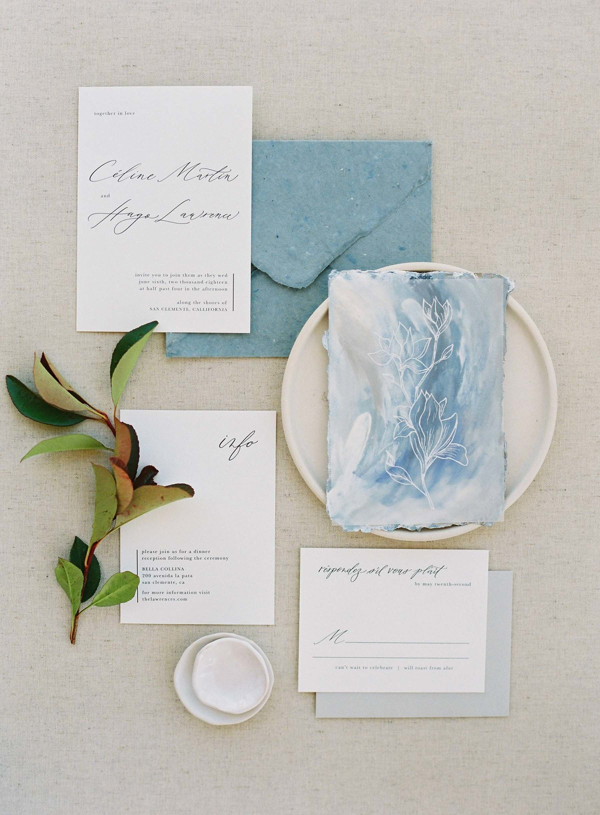 Plume & Fete semi-custom invitation suite collection coastal inspired Longbourn