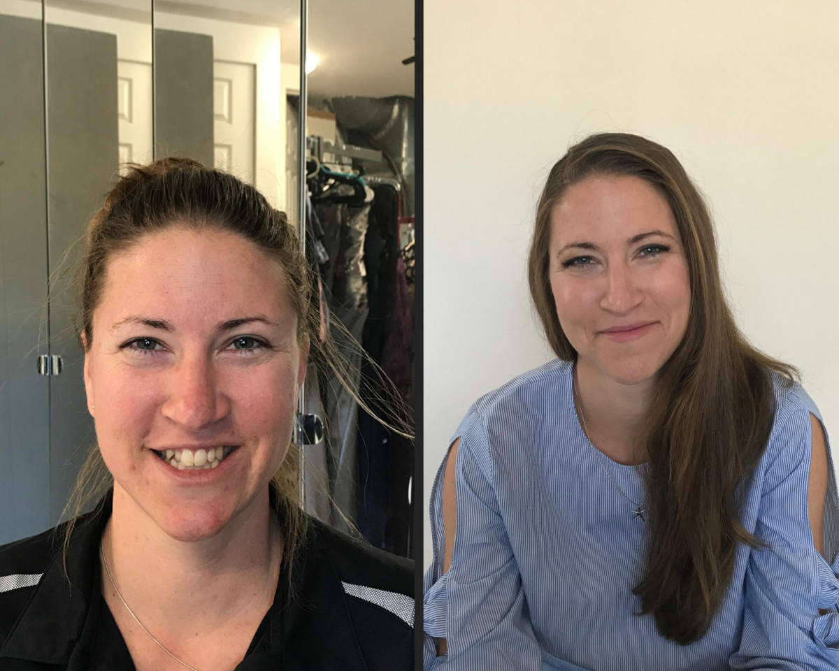 before and after makeup for branding photos natural clean makeup
