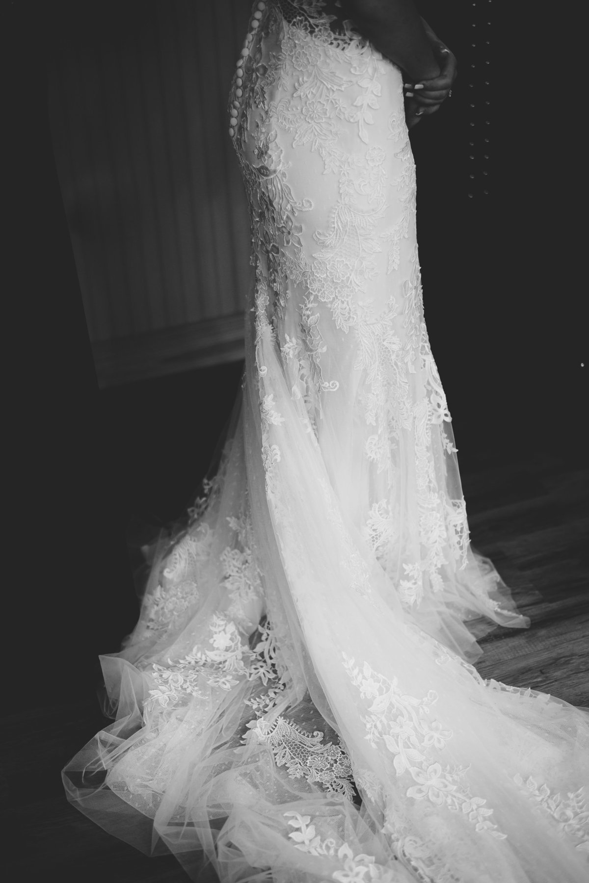 details of dress from allure bridal in gainesville, florida