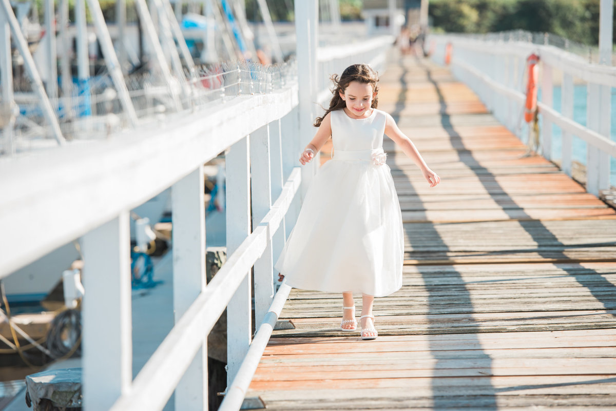 flower girl at Vancouver Yacht Club wedding