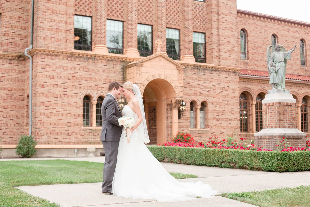 Mint and Blush Nazareth Hall Fall Wedding with First Look by Toledo and Detroit Based Wedding Photographers Kent & Stephanie Photography_0859