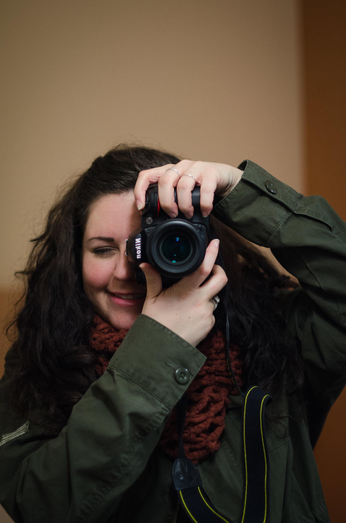 Jill Blue Photography takes photo in a mirror in Amsterdam, Netherlands