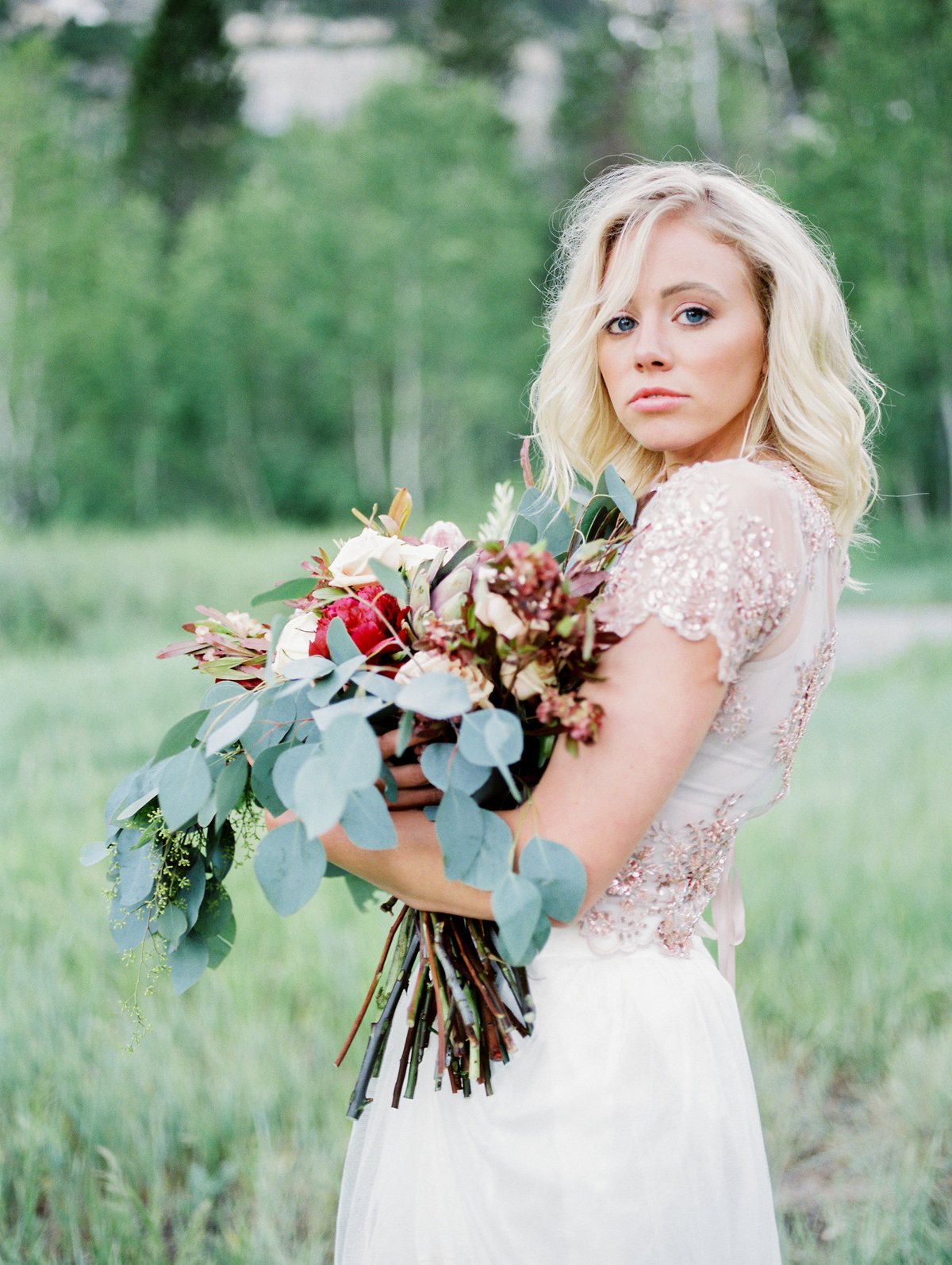 Styled Bridal Portrait with Flowers