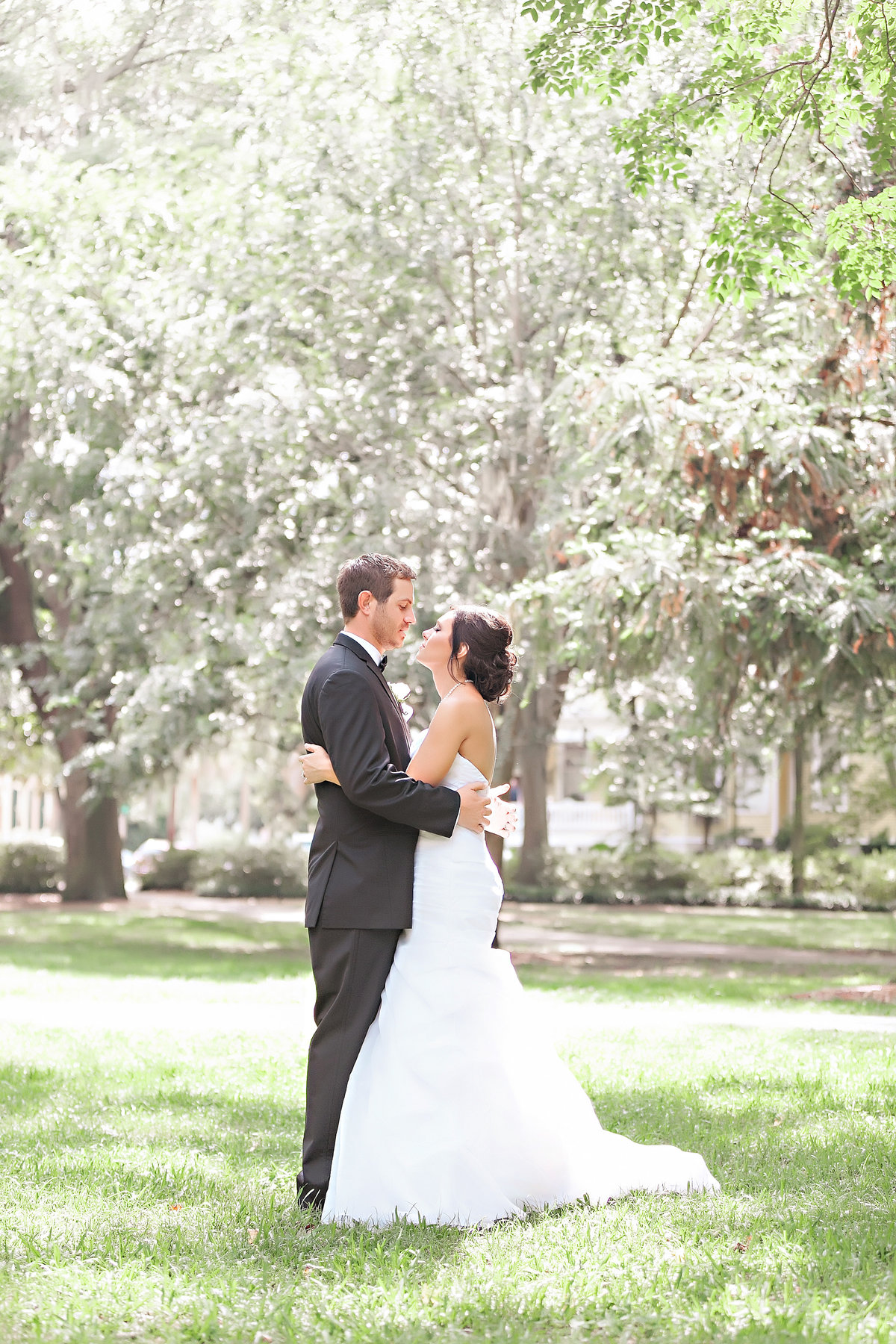 Savannah Bride Groom Westin Spring Forsyth Park Wedding