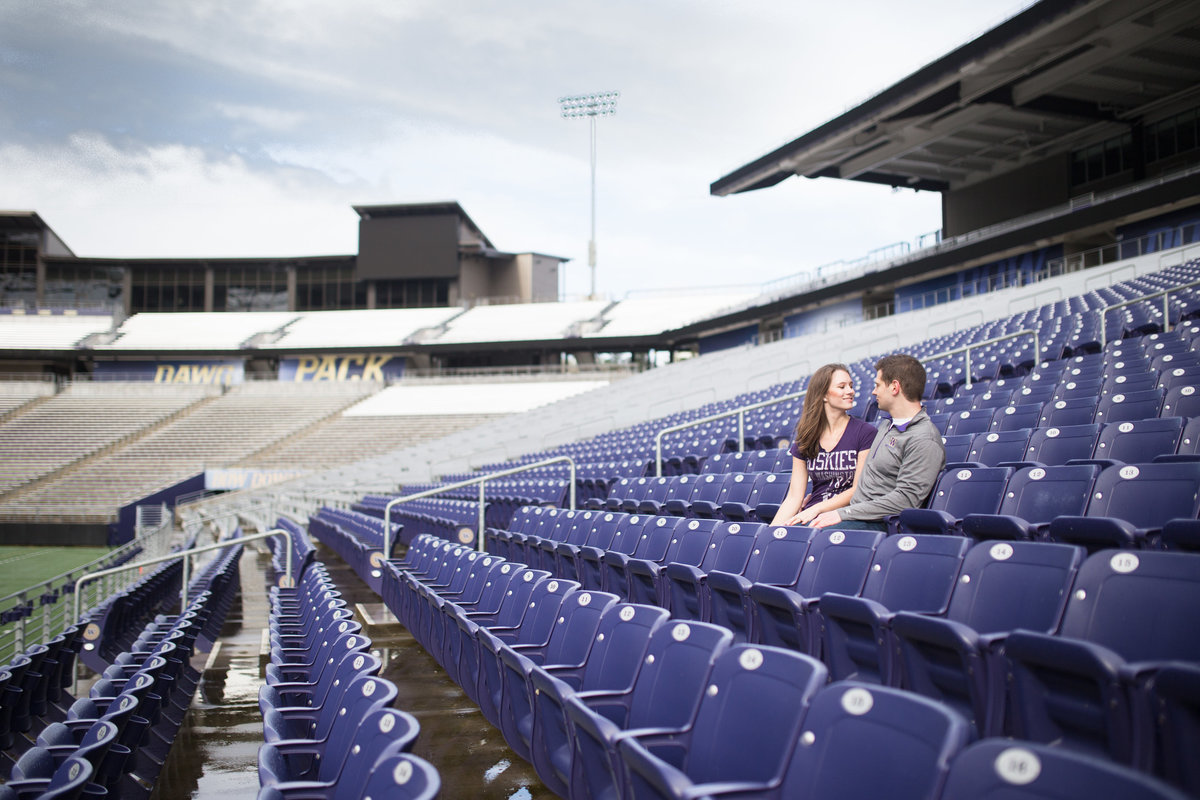 Erica Tim UW Quad Cherry Blossom Husky Stadium Engagement Session-98