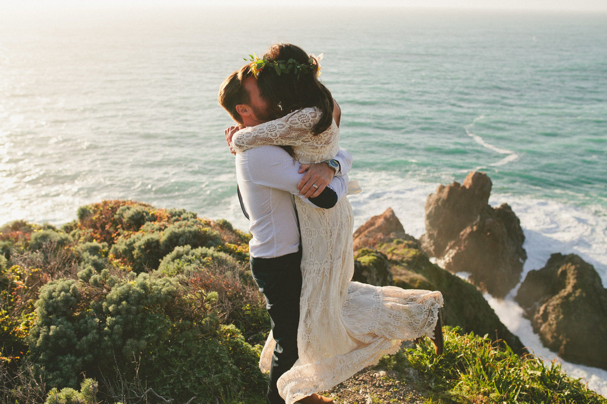 Big Sur Intimate and Boho Elopement