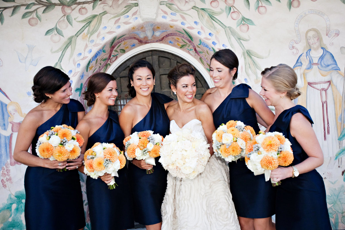 Carmel Wedding, Bride and Bridesmaids, Jennifer Baciocco Photography