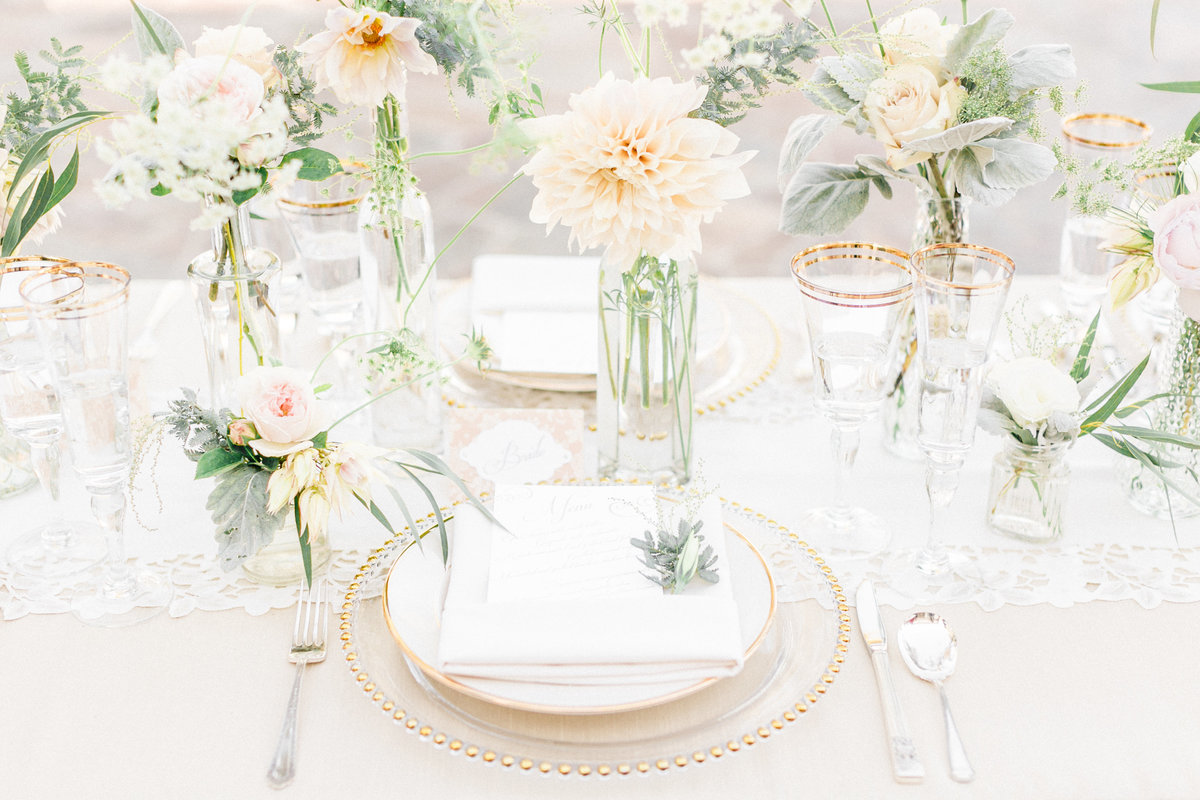 French Vintage Inspired Table Setting