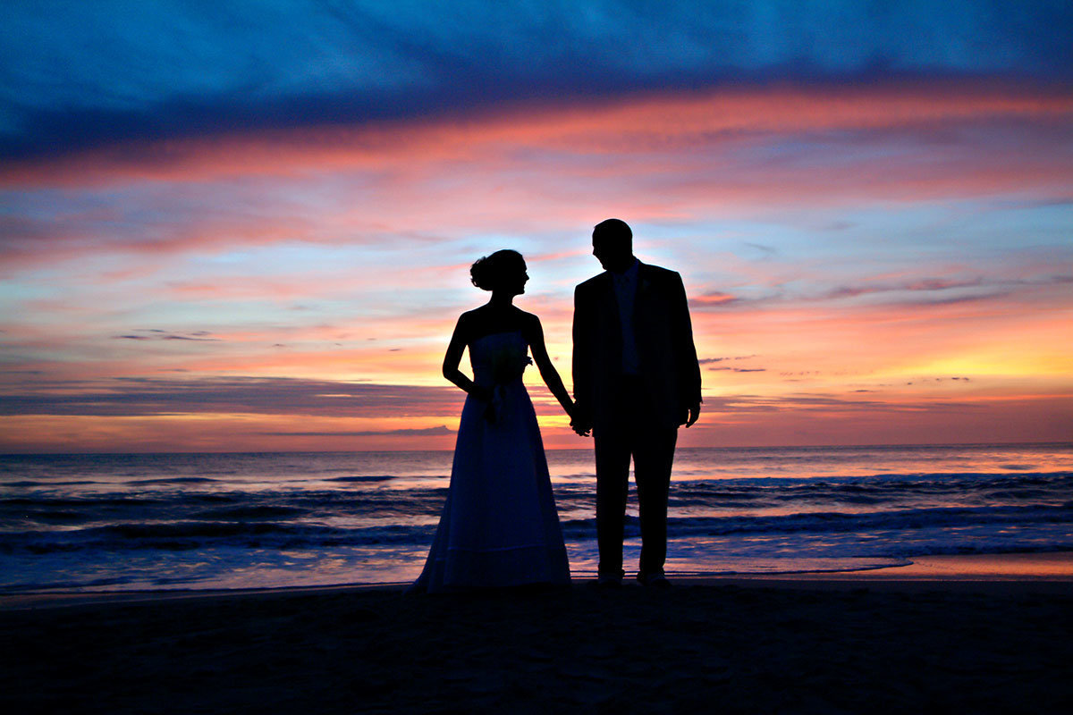 sunset wedding naples beach hotel and golf club