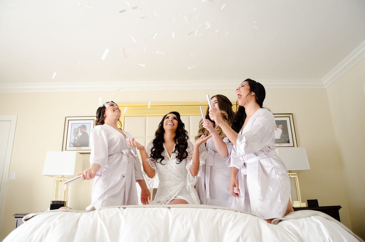 Bride and Bridesmaids trump hotel and spa