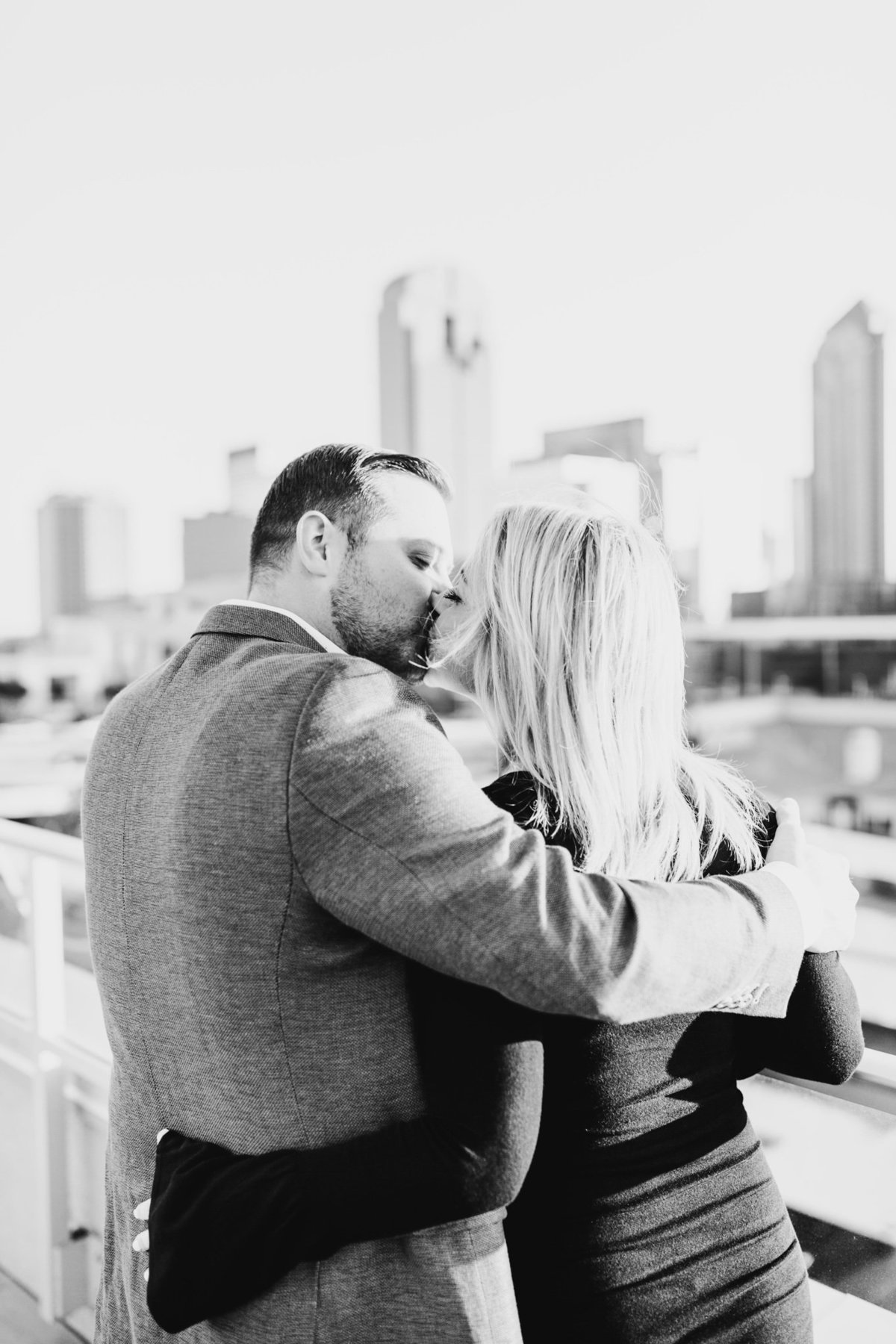 Eric & Megan - Downtown Dallas Rooftop Proposal & Engagement Session-80
