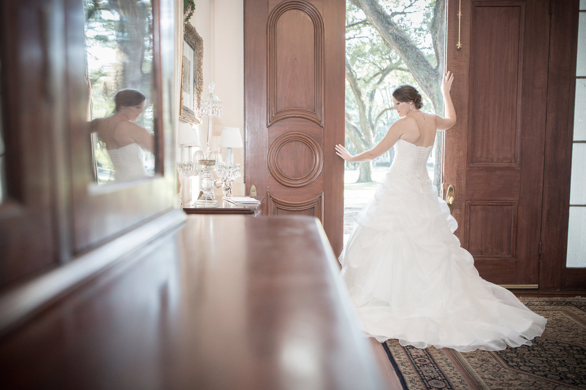 Jones bridal photo a the The Bragg Mitchell house in Mobile, Alabama
