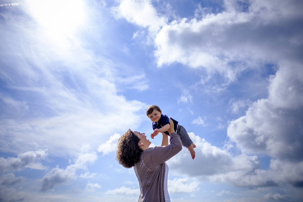Family Portraits Beautiful Sky by King and Fields Studios Charleston SC