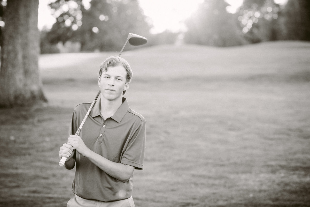 Lake Oswego High School Senior Photography at Golf Course
