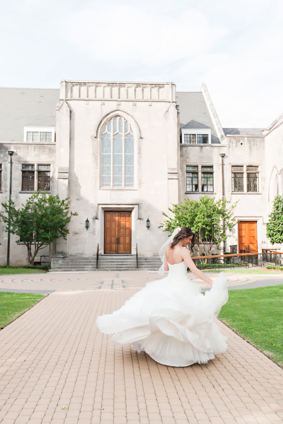 Macon Georgia Bride Portrait Wedding Dress Library Ballroom Spring Romantic