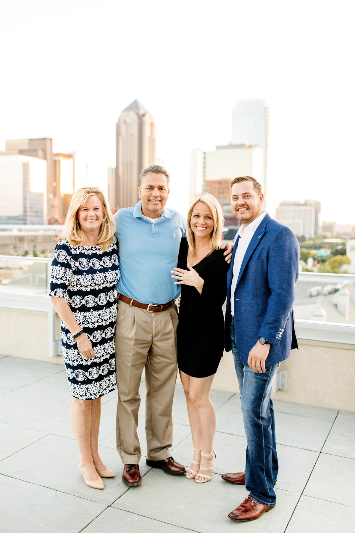 Eric & Megan - Downtown Dallas Rooftop Proposal & Engagement Session-151