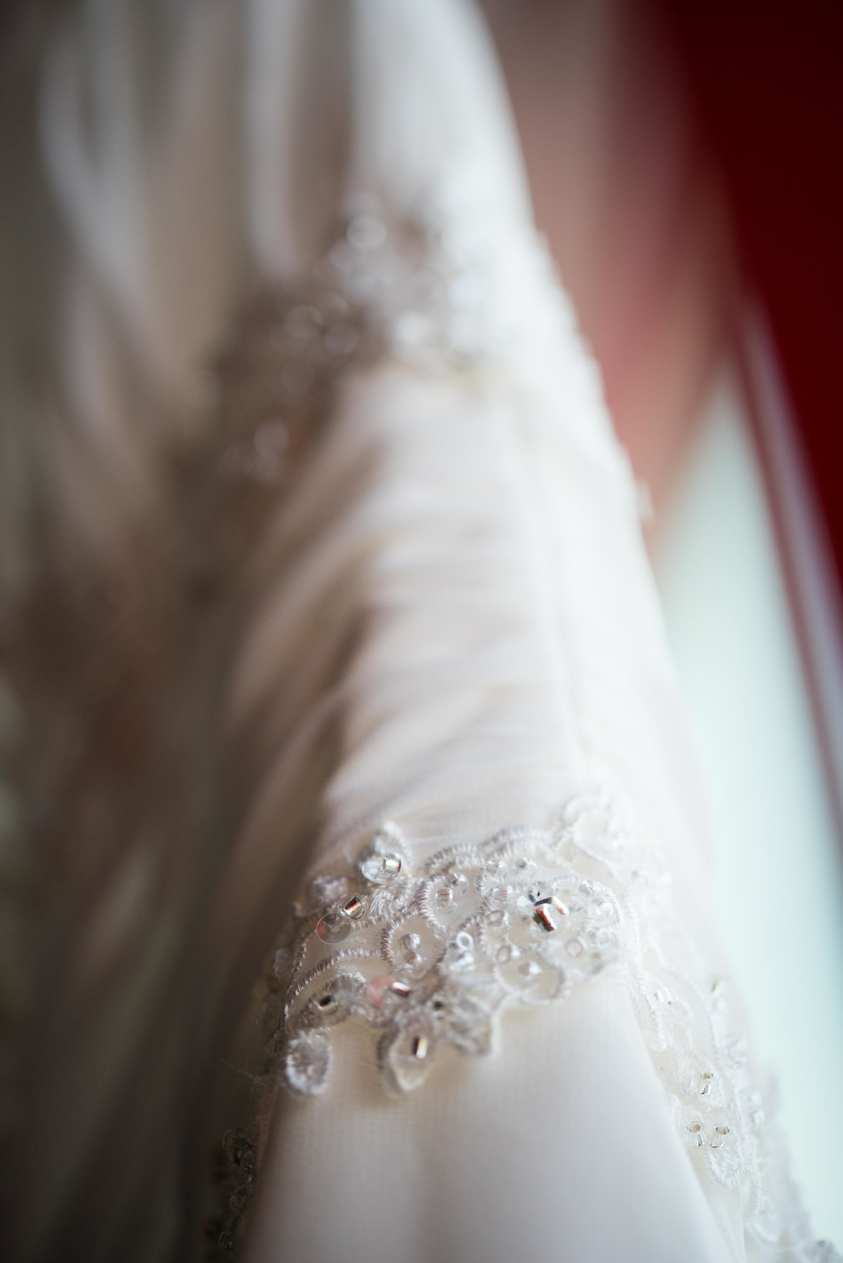 Wedding dress detail, Chicago IL.