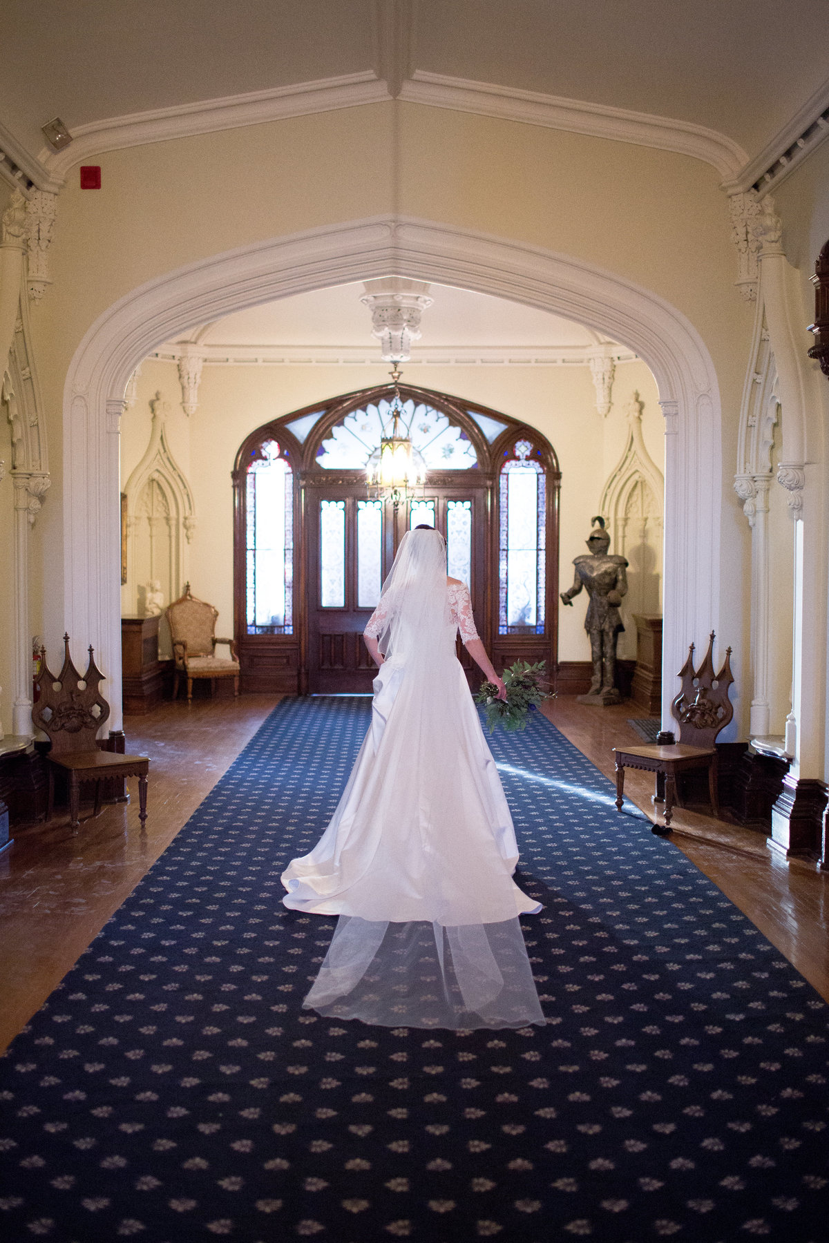 Bride at Trafalger Castle