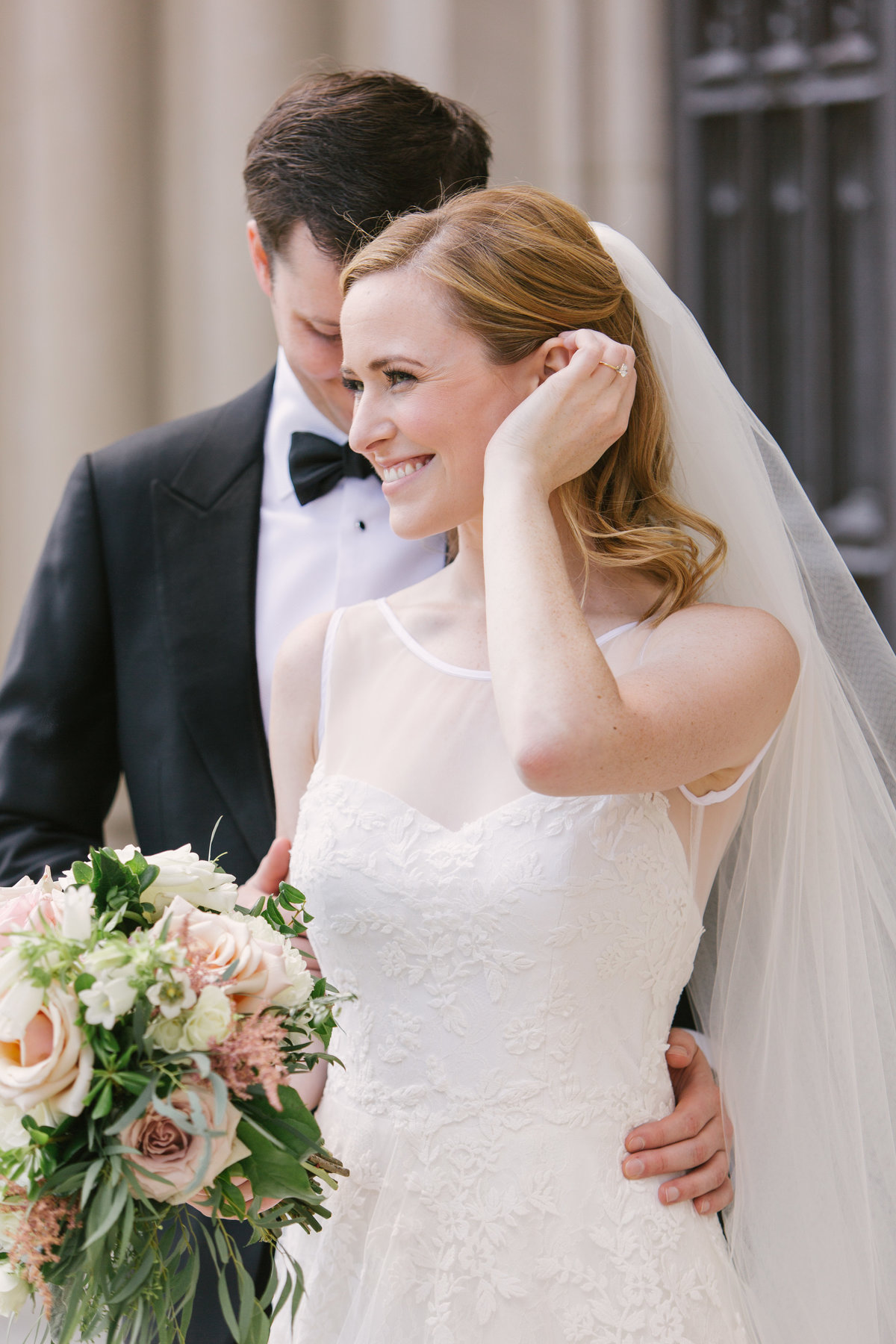Scottish Rite Cathedral Wedding Bridal Veil Photo