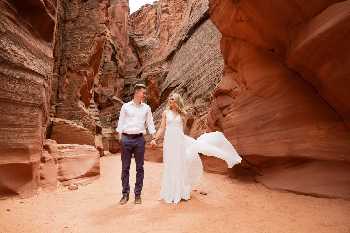 Destination Engagement Photography in the Antelope Canyons of Page Arizona