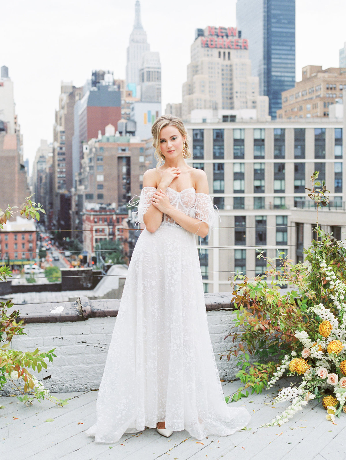 Michelle Behre Photography New Jersey Fine Art Wedding Photographer at Hudson Yards Loft NYC Haute Couture Bridal Editorial-025