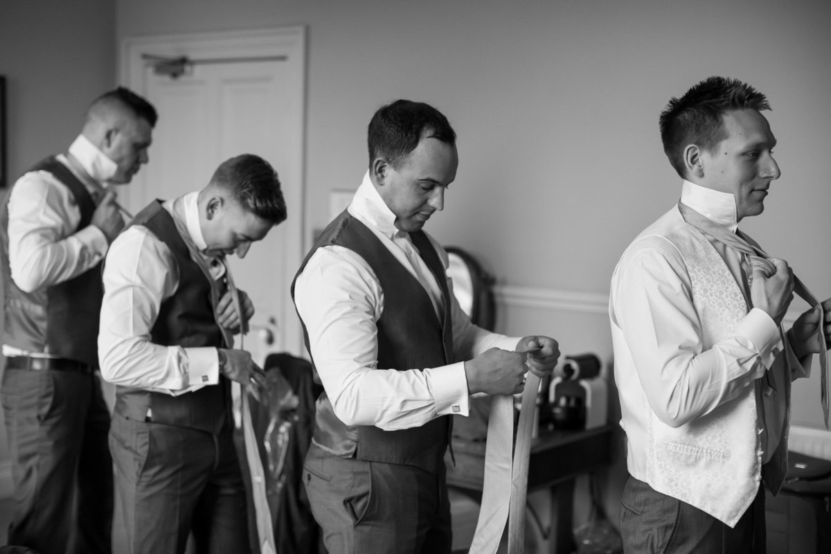 groom getting ready at mount somerset hotel