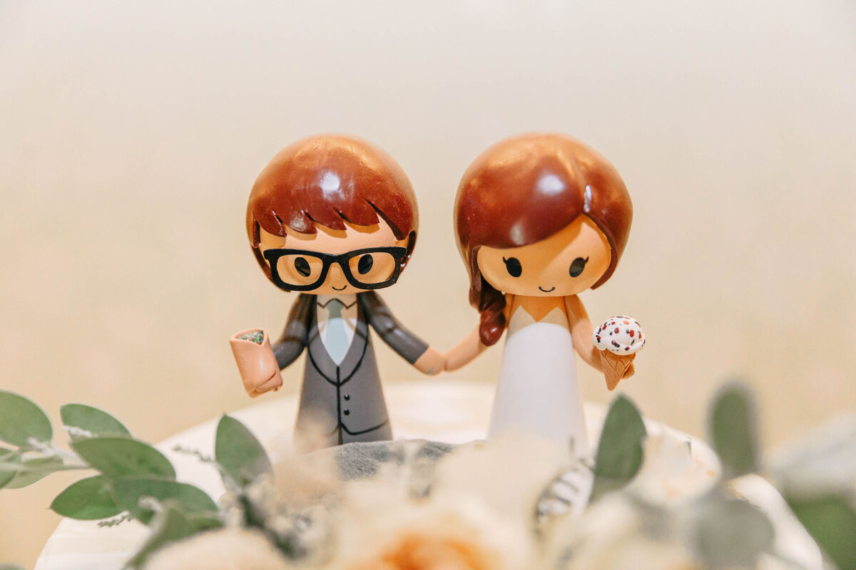 cure bride and groom cake toppers