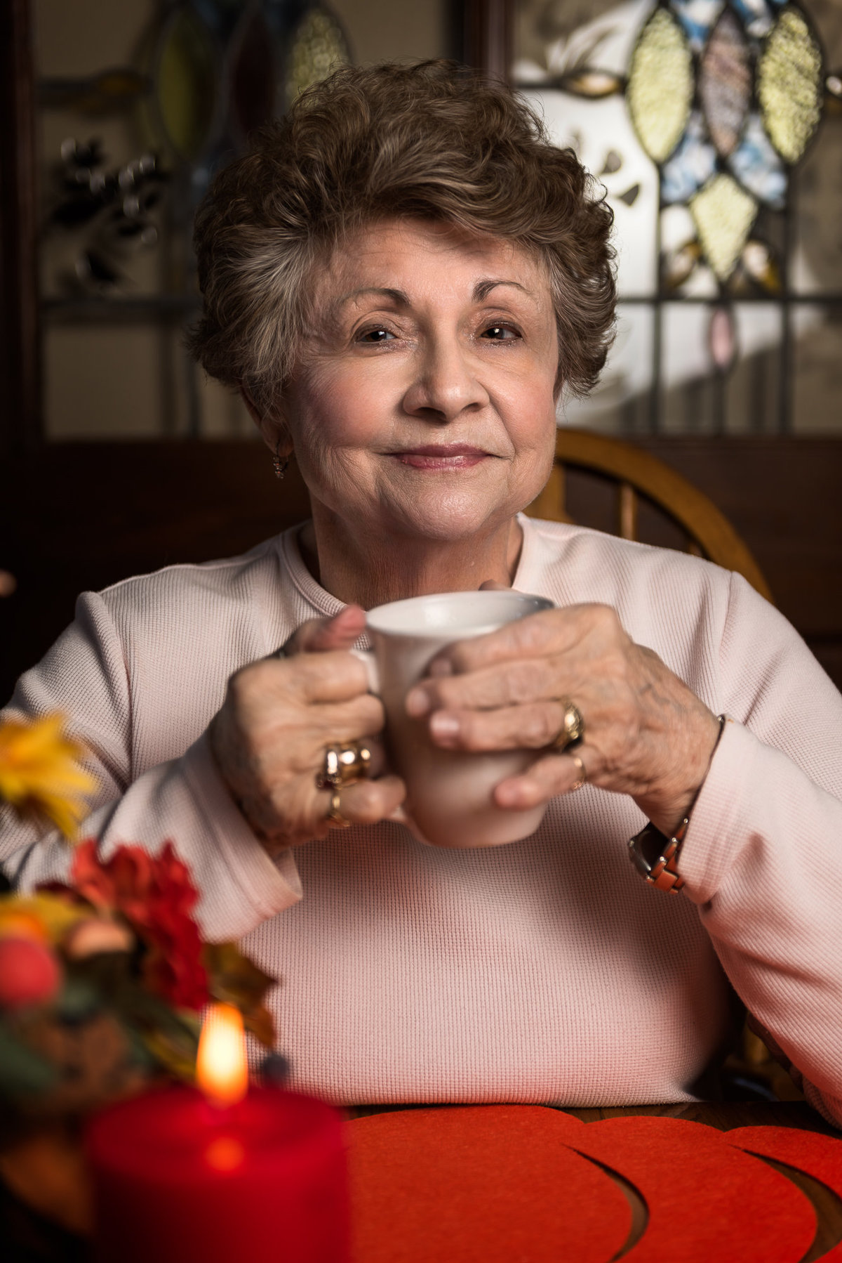 Woman Portrait with coffee. Photo by Stacy Holbert Booneville AR