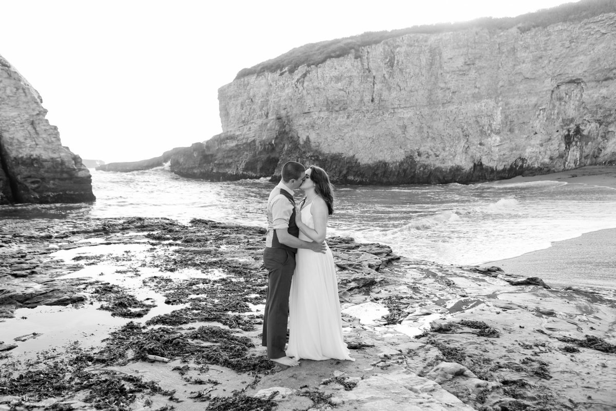 Wedding photographer, black and white, beach boho images, engagement session