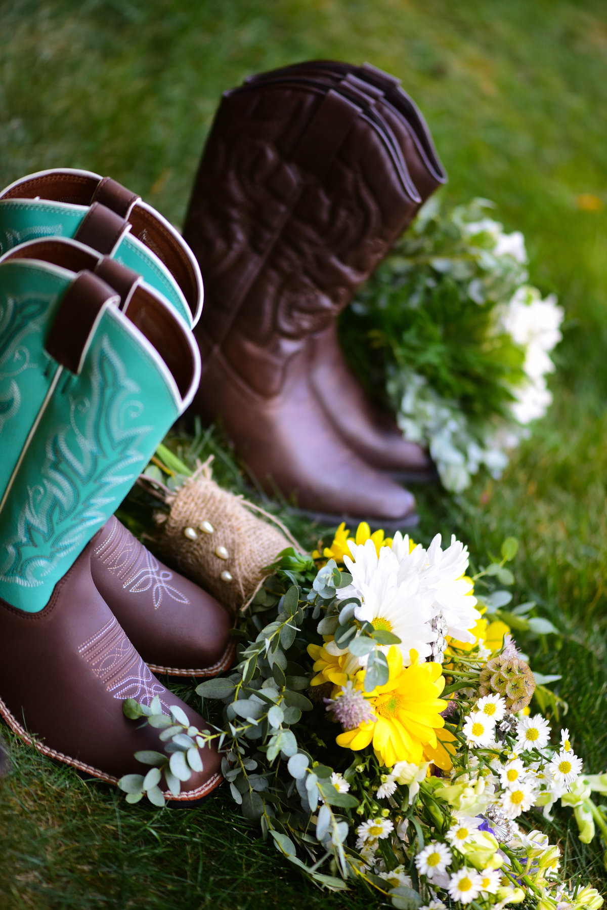 Longfellows Restaurant, Saratoga Springs, NY, Frye cowgirl boots, brown and jade green