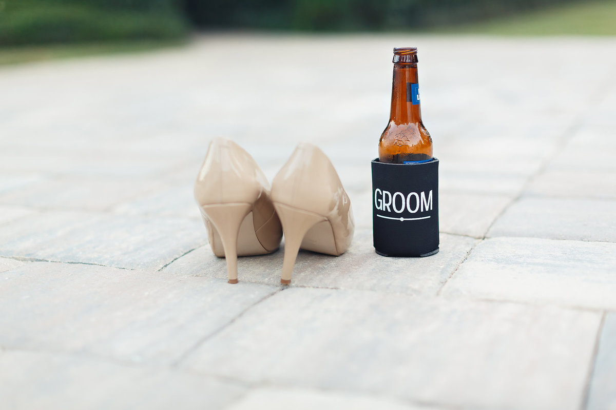 Brides shoes Grooms Beer