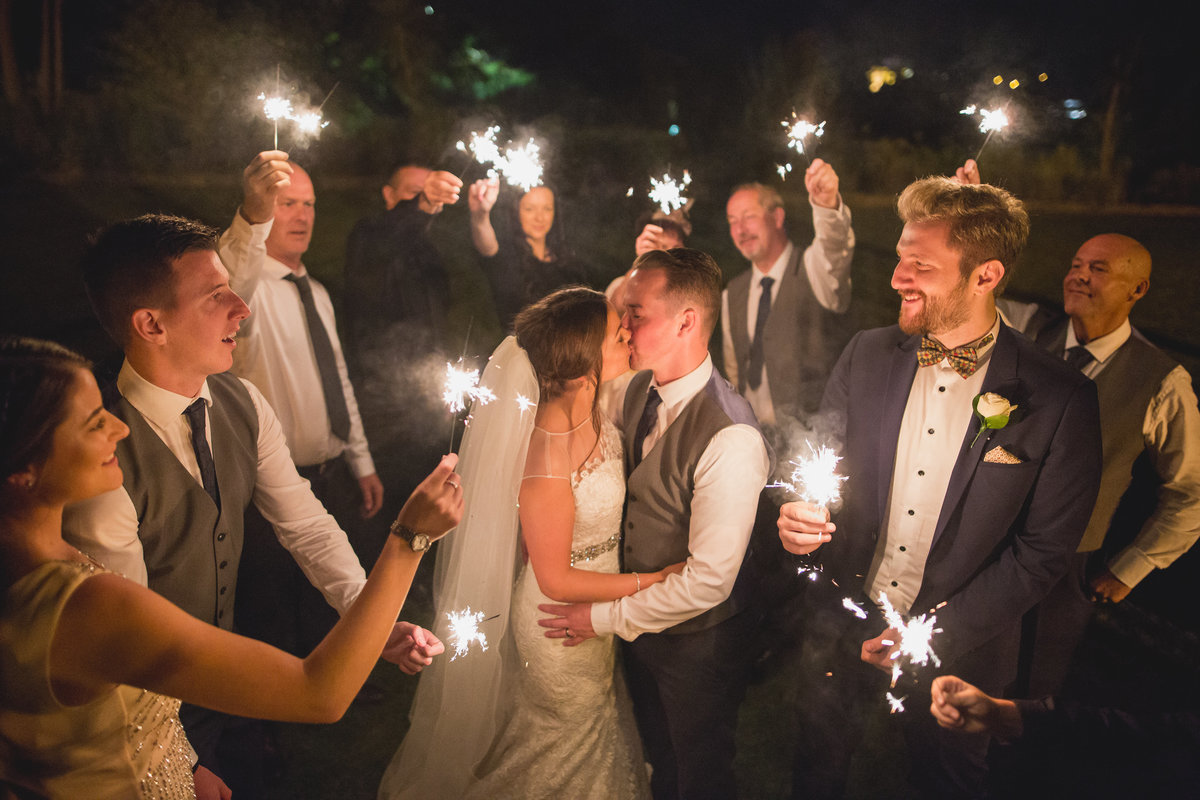sparkler wedding photographer devon