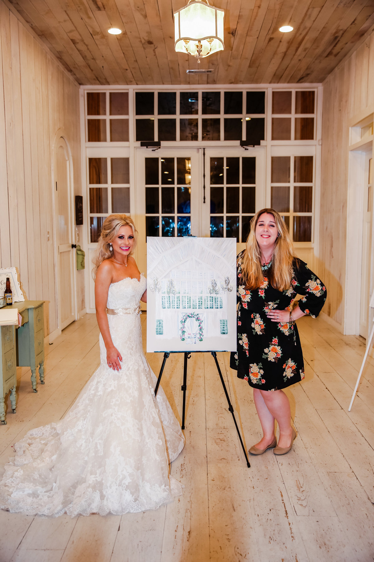 White Sparrow Barn Dallas Texas Live Wedding Painting