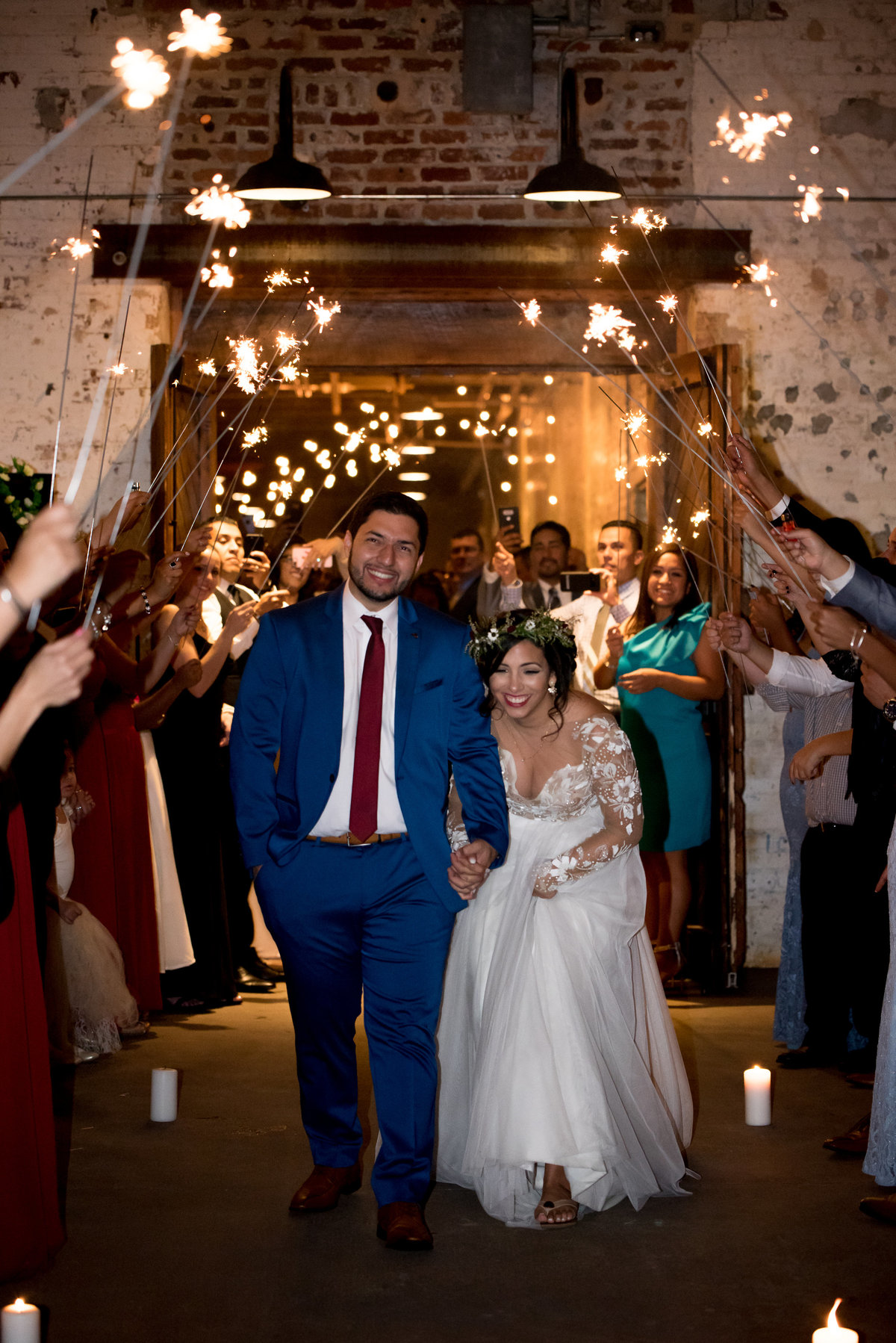 The Engine Room Sparkler Exit Atlanta Wedding Photographer