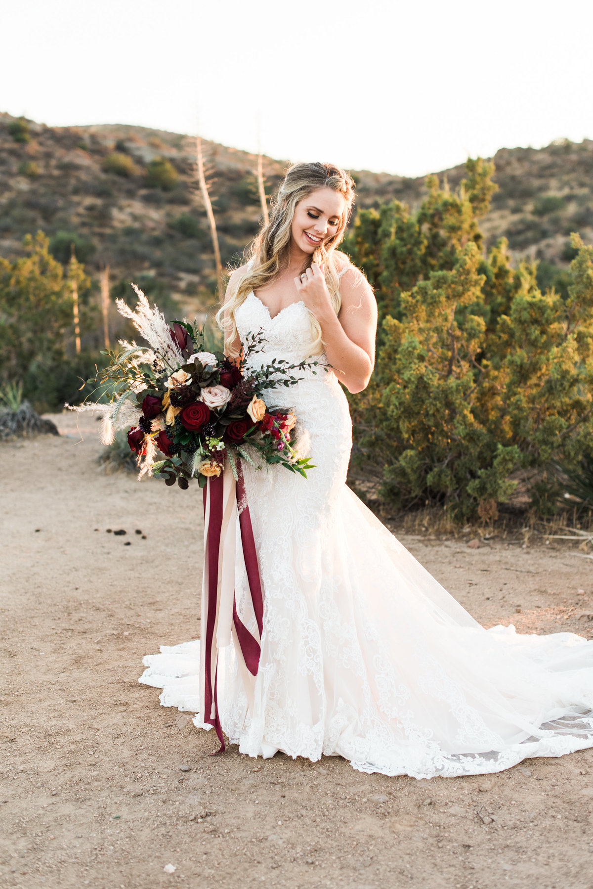 bridal portrait at vasquez rocks photo