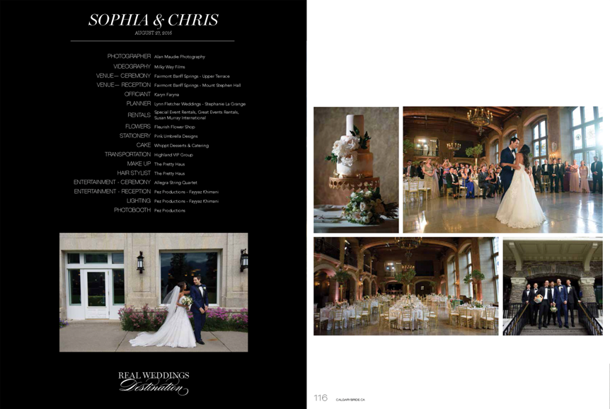 Calgary Bride Luxe 2016 Sophia Chris wedding