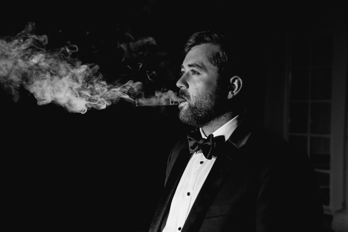 congressional country club groom smoking cigar