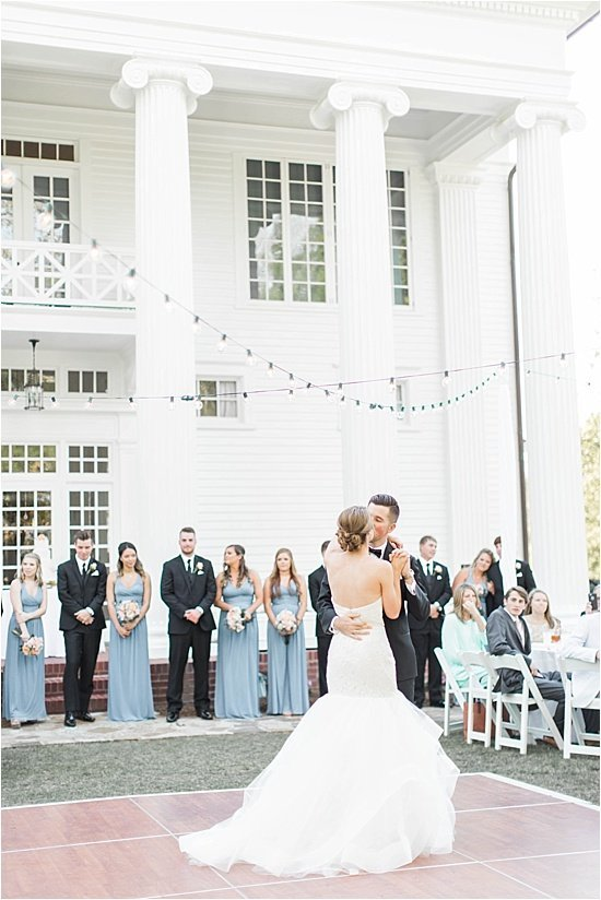 Southern Plantation First Dance Wedding Photography
