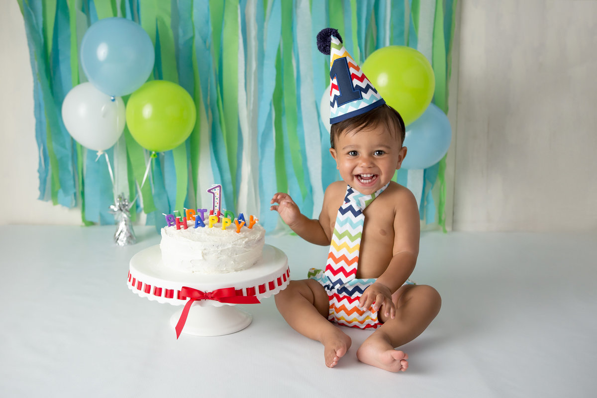 First birthday portraits cake smash photography Hudson Valley NY baby photographer