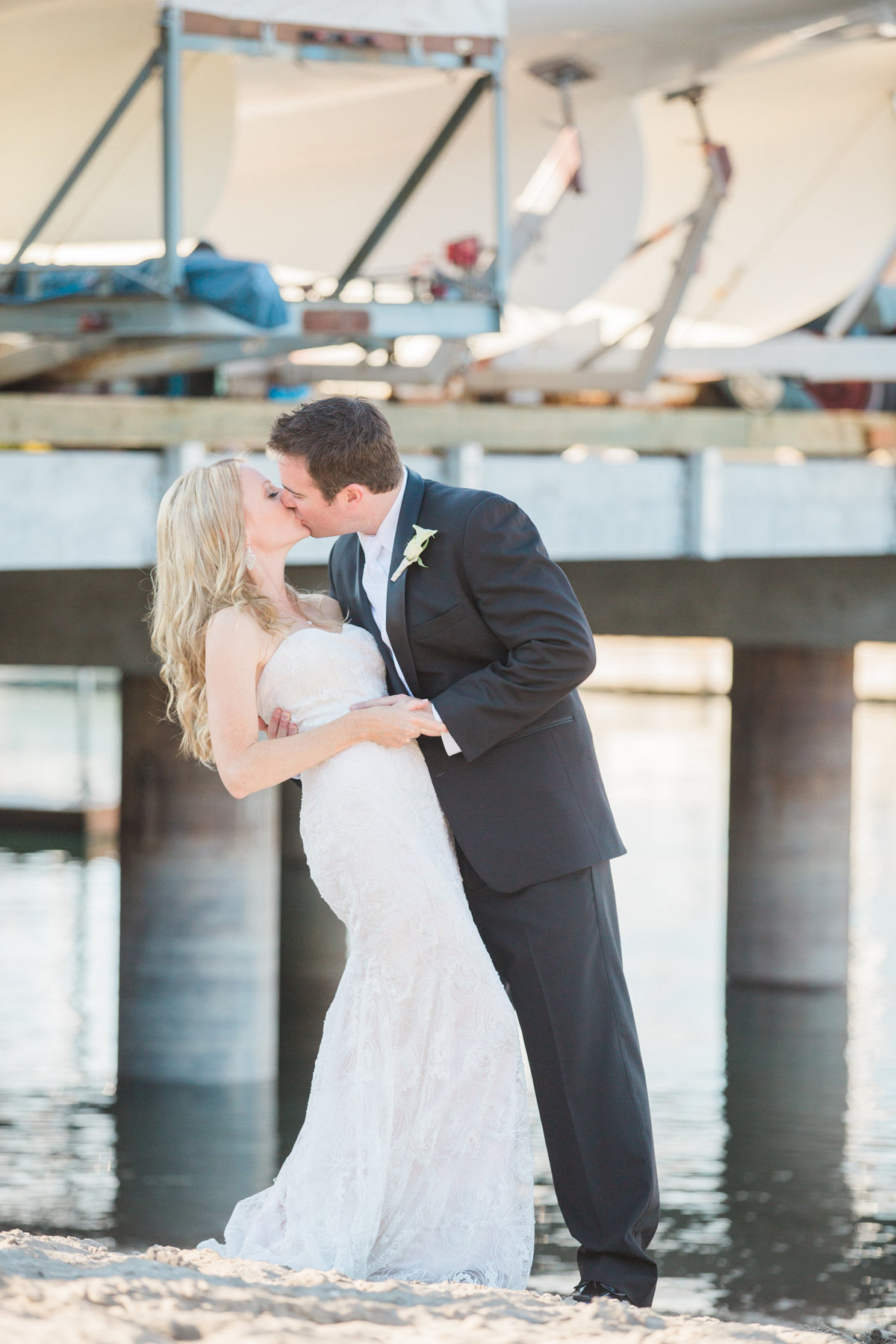 bride and groom  Vancouver Yacht Club wedding
