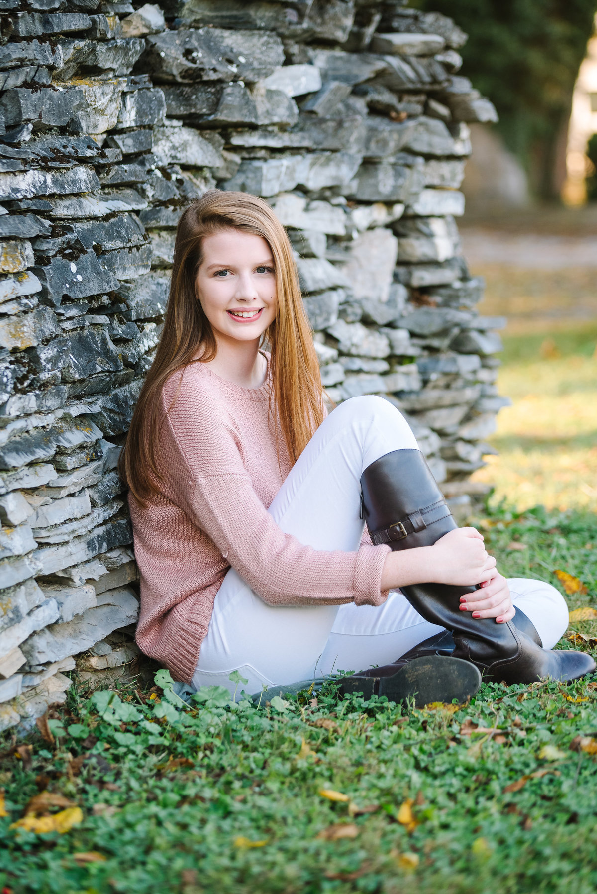high school senior portraits for girls in northern VA