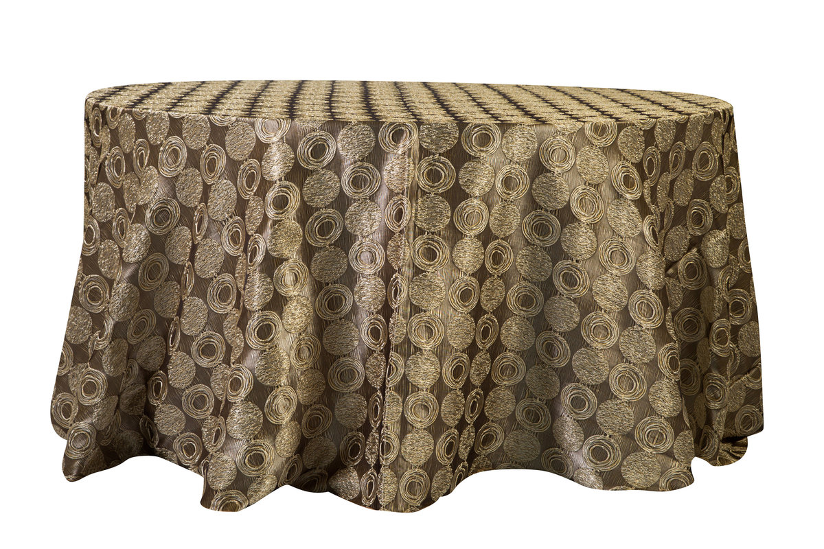 132'' Rd Lexi Circle Tablecloth