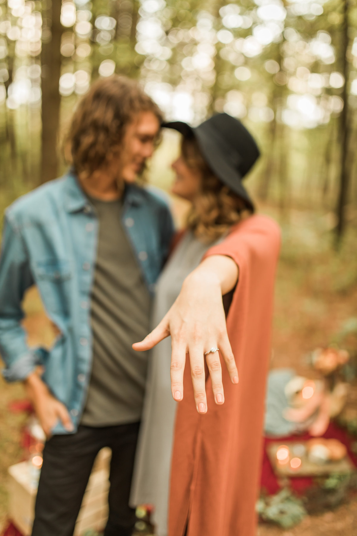 Busch Wildlife  Defiance, MO  Fall Picnic Colorado Themed Surpise Proposal  Cameron + Mikayla  Allison Slater Photography258