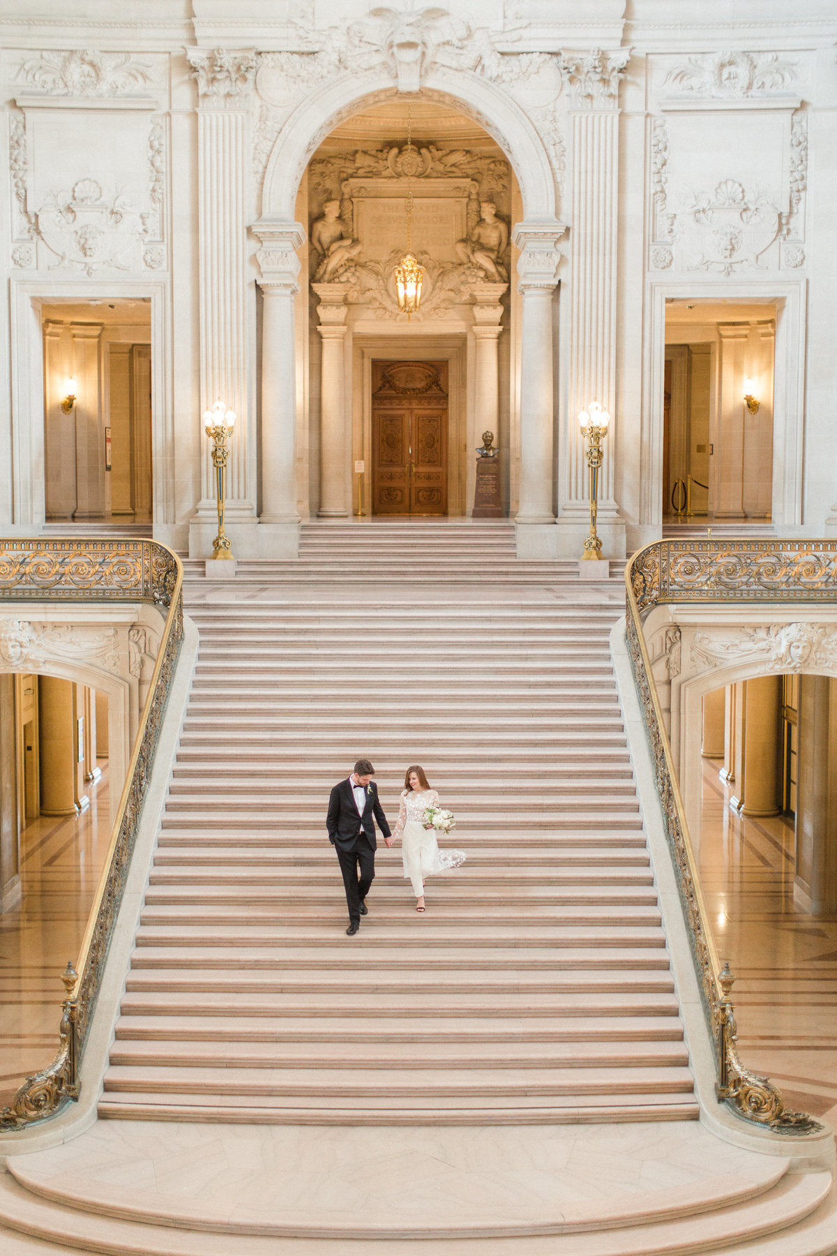 San Francisco City Hall Wedding with Jumpsuit-13
