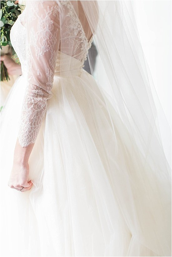 Lace Tulle Wedding Dress Details