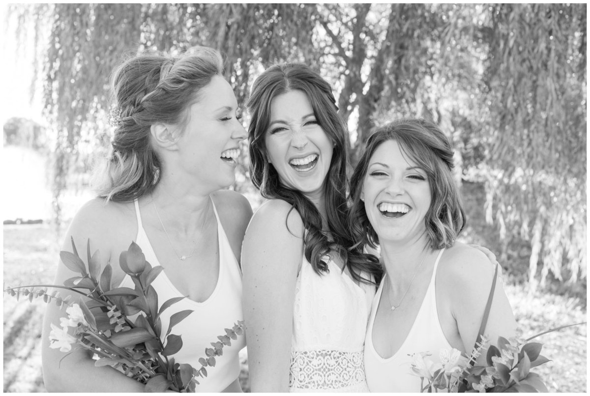 Light-and-Airy-Ottawa-Wedding-Photographer-happy-bridesmaids-black-and-white