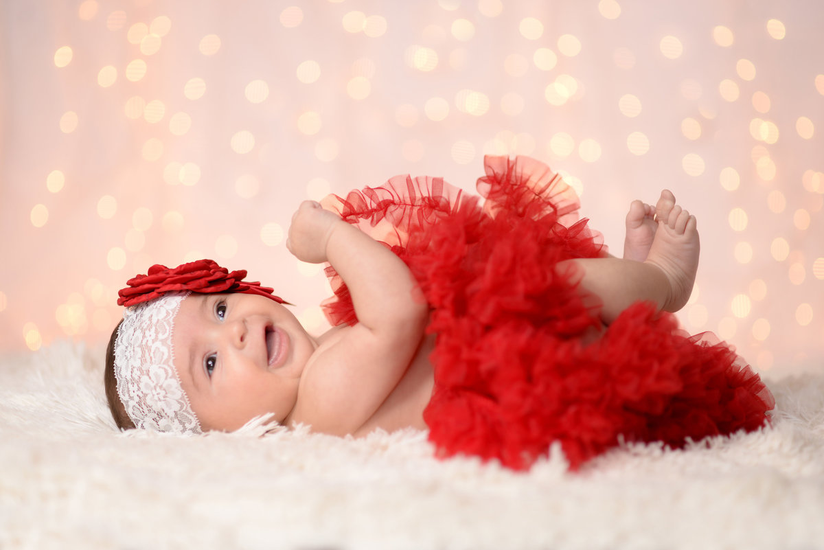 3 month christmas portraits