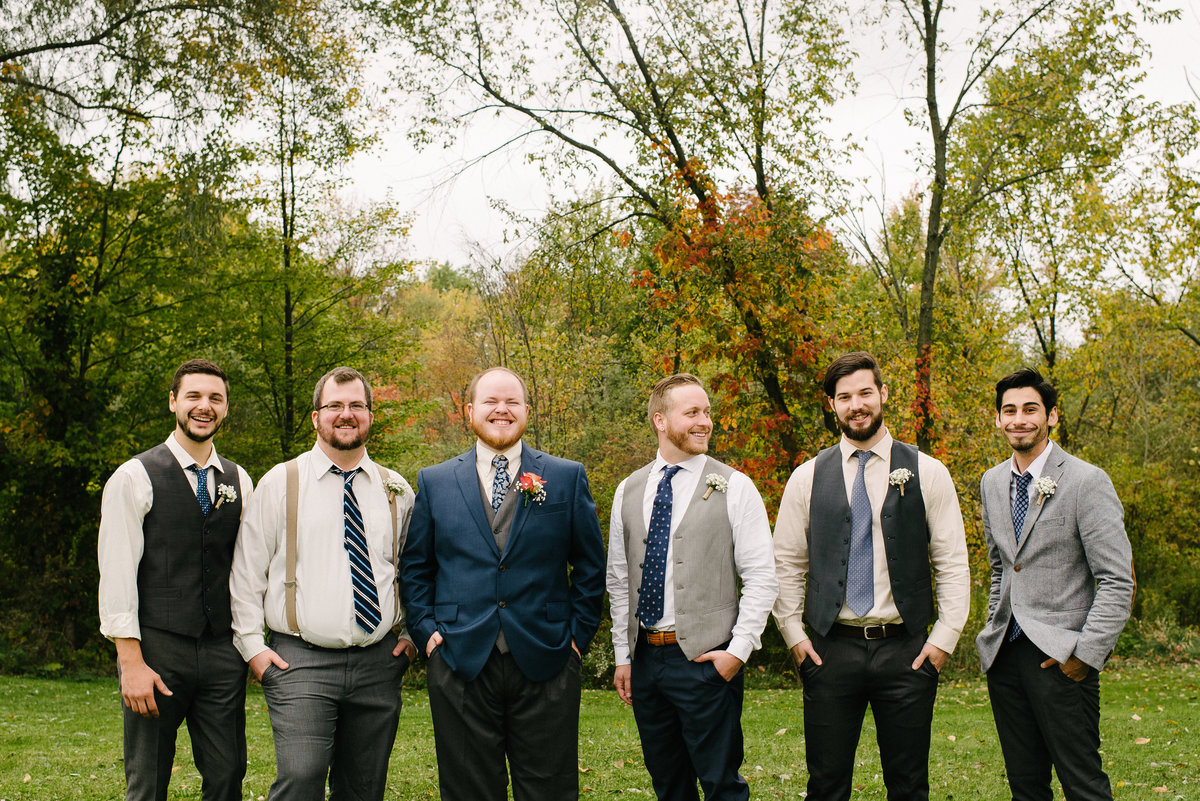 Youngstown OH wedding party groomsmen